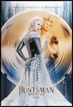 """Film: The Huntsman: Winter's War (2016)Year poster printed: 2016Country: United StatesSize: 27 in x 40 in (69 cm x 102 cm)This is an original, one-sheet movie poster from 2016 for The Huntsman: Winter's War starring Chris Hemsworth, Jessica Chastain, Charlize Theron, Emily Blunt, and Sam Claflin. Cedric Nicolas-Troyan directed the film. The teaser-style poster measures 27""""x 40"""" and is in very good to excellent condition with minimal wear from handling. It has never been folded. Like many theatri Charlize Theron, Sophie Cookson, Sheridan Smith, Sam Claflin, Colin Morgan, Jessica Chastain, Chris Hemsworth, Elizabeth Taylor, Queen Ravenna"""