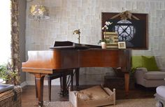 via La Maison Boheme - grand piano in Camille Dickson's home - photo by Sarah Greenman