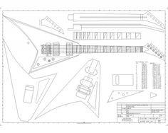 Rhoads Photo by garciagjuan Body Template, Jackson Guitars, Les Paul Jr, Instruments, Guitar Body, Bass Amps, Guitar Building, Guitar Parts, Guitar Design