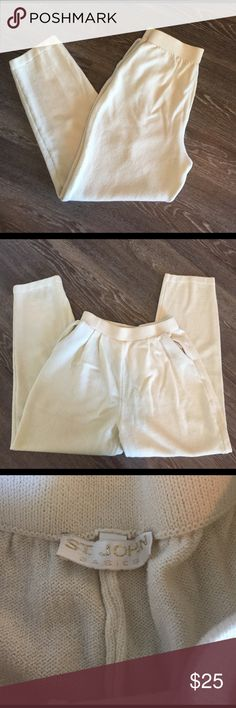 St. John St. John pants in good lightly used condition. W pockets. 26 inch inseam 12 inch rise St. John Pants