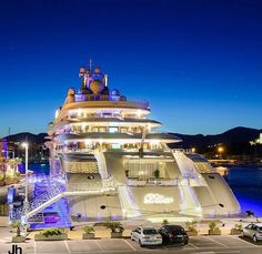 Saw this yacht today in Antibes! This was unbelievable! Wauw! :wtf this is not a yacht! its a freaking water hotel!!!!!