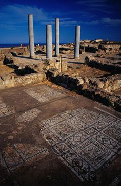 Tetrastyle patrician home at the Punic-Roman Nora site southwest of Cagliari.
