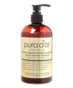 Loving this Pura D'or Argan Oil Premium Organic Anti-Hair Loss Shampoo on #zulily! #zulilyfinds