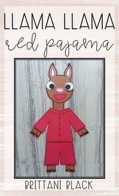 Kindergarten Writing Activities, Kindergarten Lessons, Preschool Activities, Teaching Resources, Llama Llama Red Pajama, First Grade Crafts, The Kissing Hand, Red Crafts, Red Pajamas