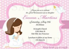 Invitaciones para Primera Comunión de niña - Imagui