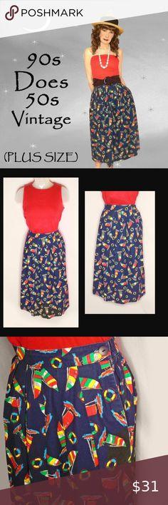 I just added this listing on Poshmark: Plus Size Vintage Cotton Skirt, Nautical Print. Plus Fashion, Fashion Tips, Fashion Design, Fashion Trends, Early 2000s Fashion, Look Older, Plus Size Vintage, Cotton Skirt, Vintage Cotton