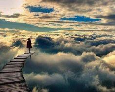 A walk in the clouds.