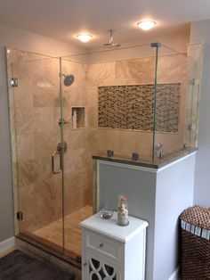 Shower separate from tub