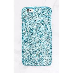 Blue Glitter Iphone 6 Case ($7.95) ❤ liked on Polyvore featuring accessories, tech accessories, phone, phone cases, blue, glitter, apple iphone case, iphone cover case, blue iphone case and iphone cases