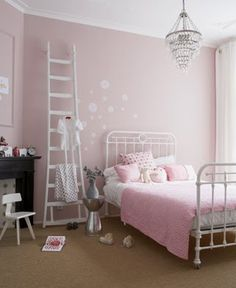 ladder and stickers on wall use the  upper space of the room