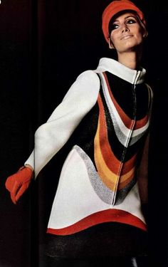 LOUIS FERAUD - late 1960s psychedelic inspired womens fashion