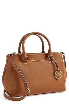 MICHAEL Michael Kors 'Small Sutton' Saffiano Leather Satchel available at #Nordstrom