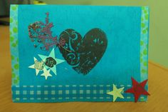 Heart Shaped Hand Made Card All Occasions by mindyourpeasandqs