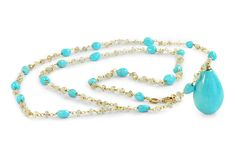 SENSA Jewellery - 18 ct rose gold turquoise and natural zirconia beaded necklace Turquoise Necklace, Beaded Necklace, Stylish Jewelry, Gifts For Mum, Precious Metals, Gemstone Jewelry, Jewelry Collection, Jewelry Design, Rose Gold