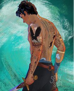 Percy Jackson Fan Art, Percy Jackson Fandom, Percy Jackson Tattoo, Percy Jackson Drawings, Percy Jackson Characters, Percy Jackson Quotes, Percy Jackson Books, Percy Jackson Annabeth Chase, Percabeth