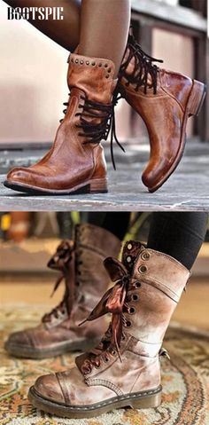 Women Autumn Low Heel Boots Low Heel Boots, Low Heels, Heeled Boots, Bootie Boots, Shoe Boots, Shoes Sandals, Trendy Shoes, Cute Shoes, Me Too Shoes