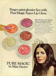 Vintage Hairstyles Retro 1972 had some - From Mademoiselle, June Model Christine Ferrare Vintage Makeup Ads, Retro Makeup, Vintage Beauty, Vintage Ads, Vintage Fashion, 70s Makeup, Vintage Trends, 1960s Fashion, Vintage Designs