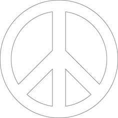 free peace sign stencil you can print | Start artwork | Peace Symbols | Happy Birthday Peace