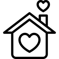Loving Home free vector icons designed by Freepik Glitter Wall Art, House Design Pictures, Cute Easy Drawings, Line Art Tattoos, Home Icon, City Illustration, My Scrapbook, Pictures To Draw, Doodle Art