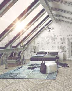 4 Simple and Modern Tips: Attic Ladder Bookcases attic living loft ladders. Attic Master Bedroom, Attic Bedroom Designs, Attic Design, Attic Rooms, Bedroom Loft, Home Decor Bedroom, Bedroom Ideas, Attic Bathroom, Skylight Bedroom