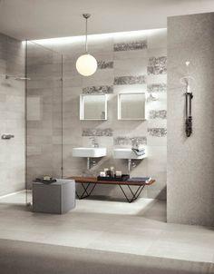 Concept - porcelain stoneware for contemporary flooring Bad Inspiration, Bathroom Inspiration, Bathroom Ideas, Glazed Tiles, Outdoor Flooring, White Tiles, White Porcelain, Porcelain Tiles, Master Bathroom
