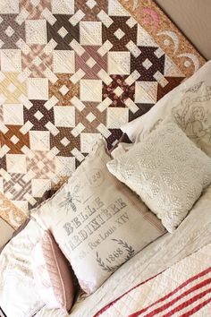 Pillows and a favorite quilt. (LOVE this quilt!!!)