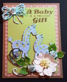 Die-namite Dies Baby Giraffe Card