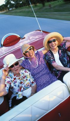 Shades on with the top down. That's how we roll. This will be Amanda, Angie, and I before we know it!