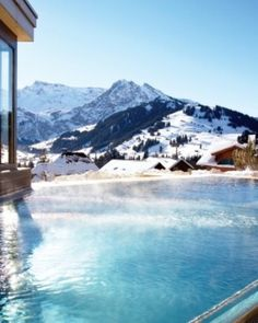 The spa's exterior thermal pool has massage jets and incredible views. #Jetsetter #JSHotCold