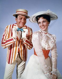 You guys are awesome ! : Mary Poppins (Julie Andrews) & Bert (Dick Van...