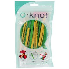 25 Count Q Knot Multi Purpose Reusable Ties * Reusable ties * Easy release and retie * Stretchable and flexible * Non slip gripping teeth * Includes 10 small Yellow Cable Tie, Cord Organization, Planning And Organizing, Pen Refills, Cable Organizer, Tear, Getting Organized, Flexibility, Knots