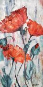 Poppy Field - oil painting - $875