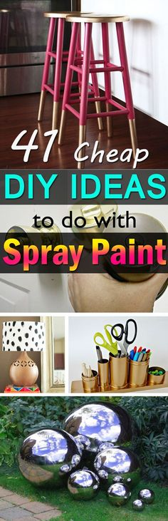 Spray painting is an apt and easy way to give a fresh and magical makeover to the old items you have. Check out these 41 DIY spray paint ideas to inspire yourself!