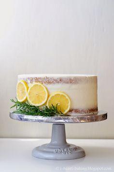 i heart baking!: half naked layer cake with fresh blueberries and lemon whipped cream