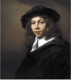 Rembrandt, Portrait of a Young Man 1666; another original I've viewed.