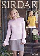 Sirdar 8131 Woman's Tops in Sirdar Summer Linen DK ( weight) for Adults Crocheting Patterns, Warm Weather, Knit Crochet, Detail, Knitting, Blouse, Summer, Tops, Women