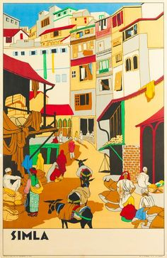 Tourism Poster, Poster Ads, Life Poster, India Poster, Travel Album, Vintage India, Visit India, Travel Illustration, Vintage Travel Posters