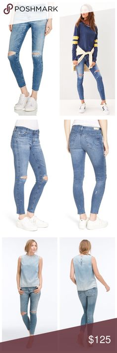 AG Legging Ankle Jeans 16 Years Artist Touch The perfect distressed skinnies. Size 27, brand new with tags attached. Still selling for full retail price of $255 at Nordstrom. ❌ No trades, holds, or modeling ❌ AG Adriano Goldschmied Jeans Skinny