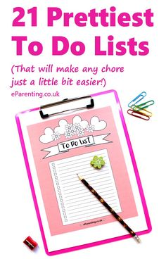 21 pretty printable to do lists that are free to download. Make your daily tasks that little bit easier by getting organised with these 21 pretty to do lists that are free to print.