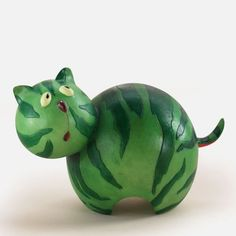 Home Grown Veggie Animal Figurine Watermelon Cat Fruit Animals Macedonia