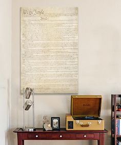Love this The Constitution Document Gallery-Wrapped Canvas by  on #zulily! #zulilyfinds