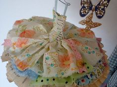 Little Paper Corture Dresses | Art Dress Assemblage Made From Paper and Fabric by MesssieJessie, £19 ...