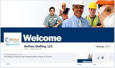 OnTime Staffing leaves no doubt about what type of jobs they recruit for and fill. Excellent use of the cover image to provide a brief business overview.