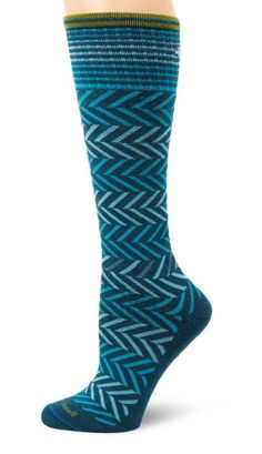 Amazon.com: Sockwell Women's Chevron Compression Socks in Teal $24