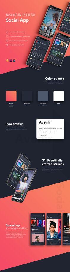 Zingo – Social App UI Kit on Behance – Design is art Site Web Design, Ios App Design, Mobile Ui Design, Interface Design, Design Design, Ui Kit, Behance, App Design Inspiration, App Development
