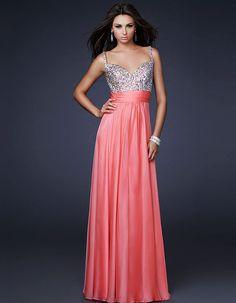 Sequin Top La Femme 16802 Coral Long Prom Dress Sale [La Femme 16802] - $152.00 : Fashion dresses, 50% off Designer dresses at UrDressOnline