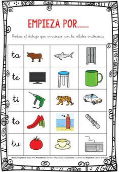 CONCIENCIA FONOLÓGICA EMPIEZA POR…... TA-TE-TI-TO-TU EDITABLE -Orientacion Andujar Daily Five, After School, Editable, Preschool, Therapy, Language, Classroom, Teaching, Comics