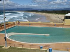 Port Kembla Olympic Pool, just south of Wollingong