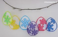 Påskeæg Hama Nabbi Photo Pearls Hama Beads Design, Diy Perler Beads, Perler Bead Art, Pearler Beads, Fuse Beads, Pearler Bead Patterns, Perler Patterns, Bead Crafts, Diy And Crafts