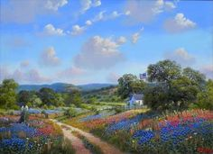 Kay Walton The Way Most Favored - Southwest Gallery: Not Just Southwest Art. City Landscape, Landscape Paintings, Oil Paintings, Indian Paintbrush, Country Paintings, List Of Artists, Southwest Art, Country Artists, Fine Art Gallery